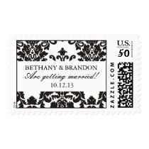 Classic Damask Wedding Postage Stamps