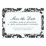 Classic Damask Wedding Save the Date Card
