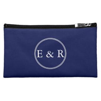 Classic Dark Navy Blue Wedding Makeup Bag
