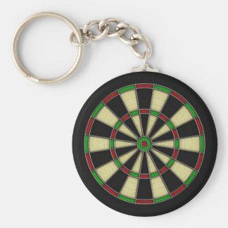 Classic Dart Board Design, Darts, Dart Games Basic Round Button Keychain