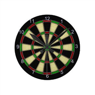 Classic Dart Board Design, Darts, Dart Games Round Clock