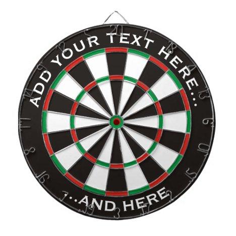 Classic Dartboard with custom text