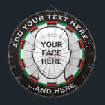 "Classic Dartboard with custom text and photo<br><div class=""desc"">Dartboard with classic colors. Two custom text areas. Add your photo or delete image and use only custom text. If you want help with your image positioning,  feel free to contact me through my profile.</div>"