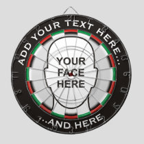 Classic Dartboard with custom text and photo