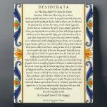 "Classic Desiderata with Flourish Plaque<br><div class=""desc"">Inspiring Poem by Max Ehrmann</div>"