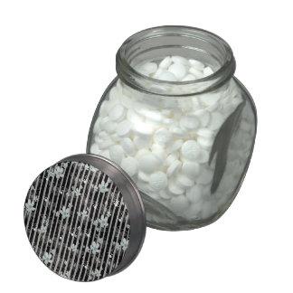 classic design glass candy jar