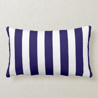 Classic Designer Stripes in Cobalt Blue and White Pillows
