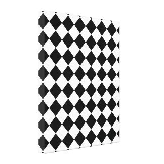 Classic Diamond Black and White Checkers Decor