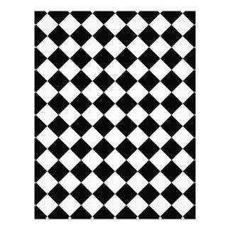Classic Diamond Black and White Checkers Flyer