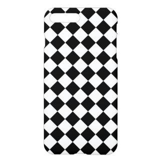 Classic Diamond Black and White Checkers iPhone 7 Plus Case