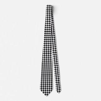 Classic Diamond Black and White Checkers Neck Tie