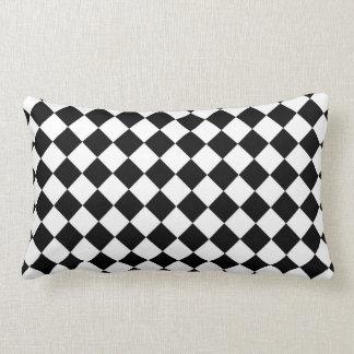 Classic Diamond Black and White Checkers Pillows