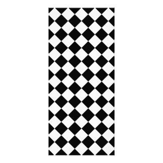 Classic Diamond Black and White Checkers Rack Card