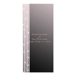 Classic Diamond Pink Wedding menu card Rack Card