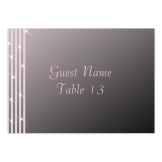 Classic Diamond Pink Wedding Table Number Card Large Business Card