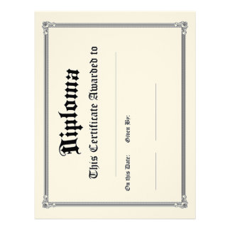 Classic Diploma Blanks Pack of 10 Letterhead