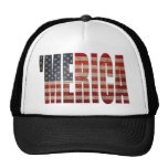 Classic Distressed US Flag MERICA Trucker Hat