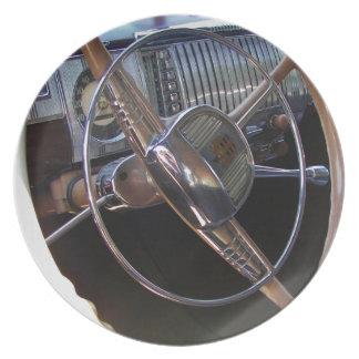 Classic Dodge dashboard. Dinner Plate