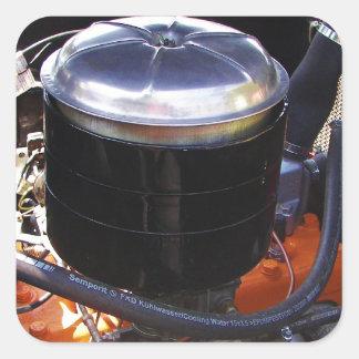 Classic Dodge Engine Bay. Square Sticker