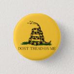 Classic Don't Tread on Me, Gadsden flag tea party Button