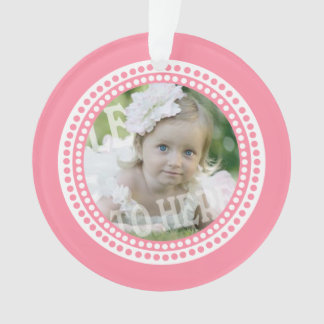 Classic Dots Baby Photo Pink Ornament