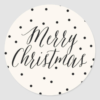 Classic Dots Christmas Gift Tag Sticker
