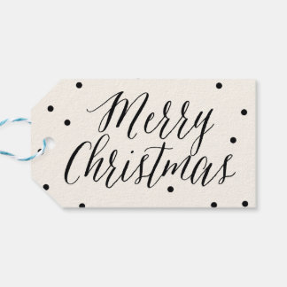 Classic Dots Christmas Holiday Gift Tags