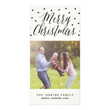 Christmas Themed Classic Dots Christmas Holiday Photo Card