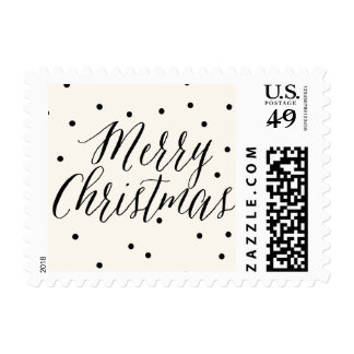 Classic Dots Christmas Holiday Postage