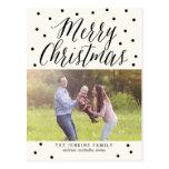 Classic Dots Christmas Photo Card Postcard