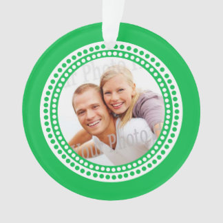 Classic Dots Green Photo Ornament