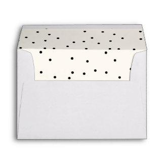 Classic Dots Holiday Custom Envelope