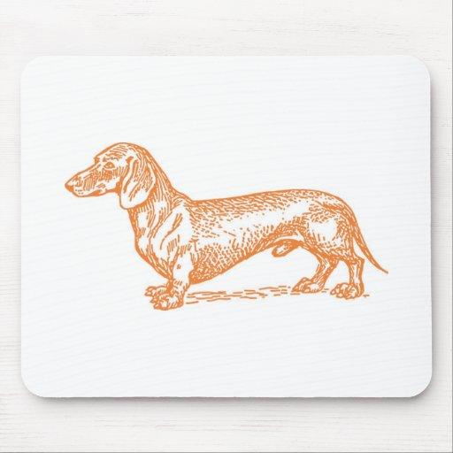 Classic Doxie - Orange Mousepad
