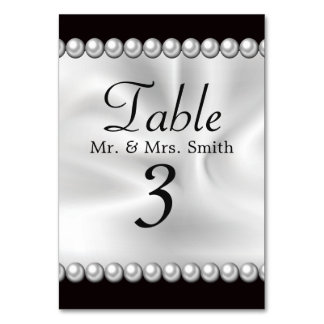 Classic Drapery with Pearls Card