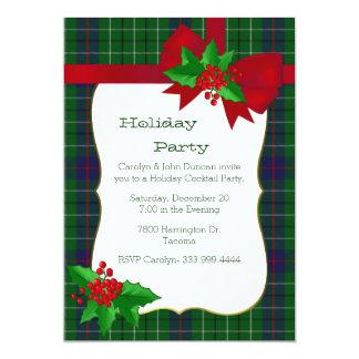 Classic Duncan Tartan Plaid Custom Christmas Party Card