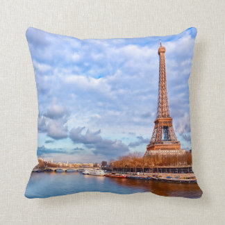 Classic Eiffel Tower View Throw Pillow