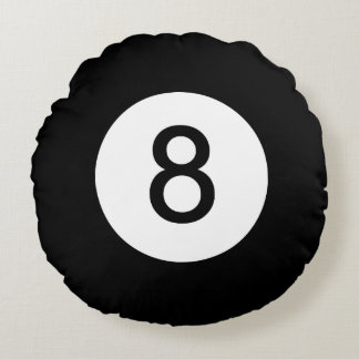Classic Eight Ball Round Pillow