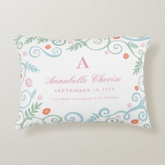 Classic Elegance Baby Birth Information Pillow