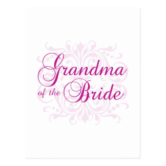 Classic Elegance Grandma of the Bride Postcard