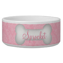 Classic Elegance in Pink for Pets Bowl