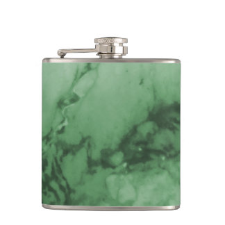 Classic Elegance Luxury Green Marble Stone Flask