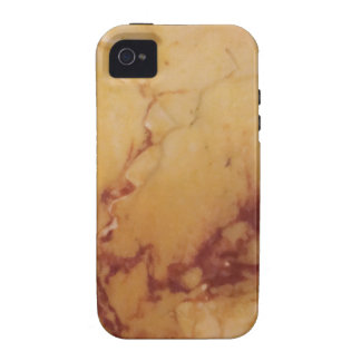 Classic Elegance Luxury Tan Brown Marble Stone Case-Mate iPhone 4 Case