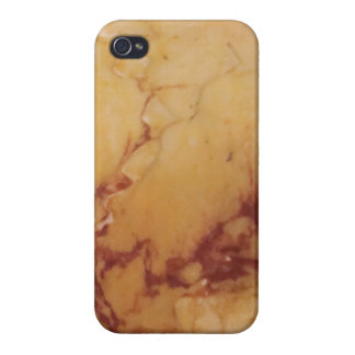 Classic Elegance Luxury Tan Brown Marble Stone iPhone 4 Covers