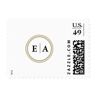 Classic Elegance Monogram Gold Cirlce Stamps
