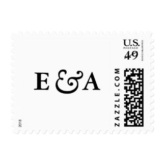 Classic Elegance Monograms Black Ampersand Stamp