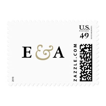 envelopmentswedding Classic Elegance Monograms Gold Ampersand Stamp