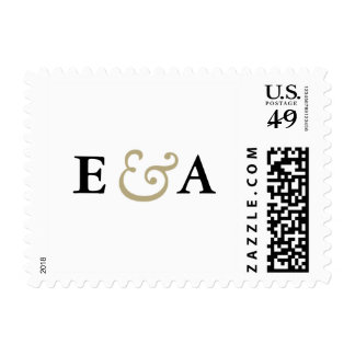 Classic Elegance Monograms Gold Ampersand Stamp