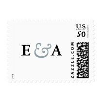 Classic Elegance Monograms Silver Ampersand Stamp