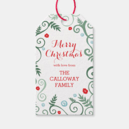 Classic Elegance Personalized Holiday Gift Tags