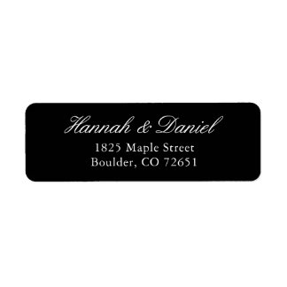 Classic Elegant Black Return Address Label
